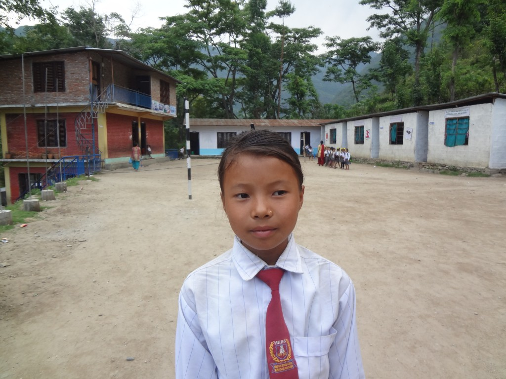 Laxmi Gurung at the school
